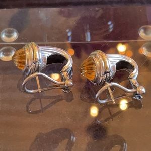 David Yurman Citrine Sterling 14K YG Earrings